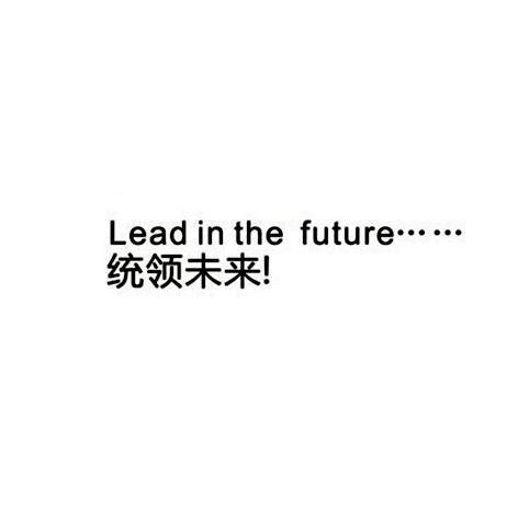 统领未来 LEAD IN THE FUTURE
