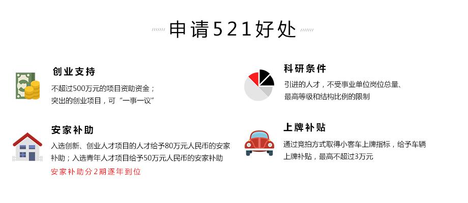 杭州521計劃申請好處