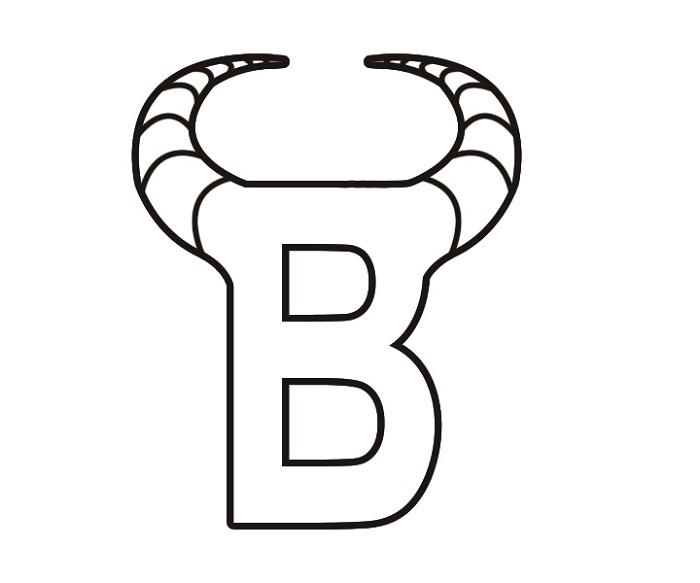 图形标B+牛角